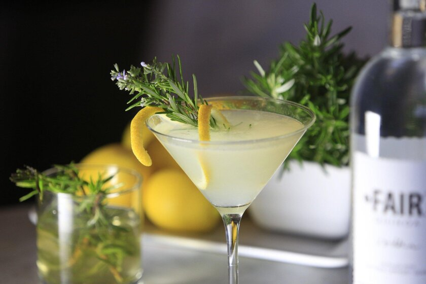 March 2nd 2016_Mission_Hills_California_USA   The Red Door restaurant serves the Miz Rosemary Lemonfizz made with 2 ounces of Fair Vodka, 1 ounce of freshly squeezed lemon juice, 1 ounce of rosemary infused simple syrup, shaken together over ice, strained into a glass, then topped with 1 ounce of C