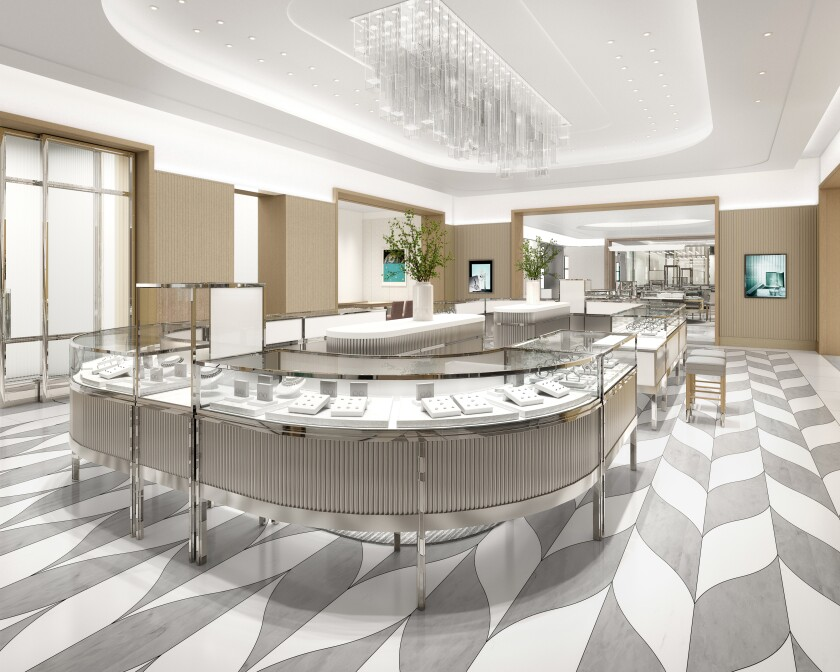 EMBARGOED UNTIL 10/19/2020 @ 8 A.M. - Rendering of the new Tiffany & Co. love and engagement room.