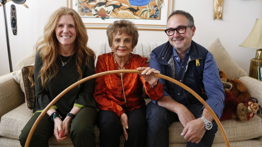 """94-year-old Joan Anderson of Carlsbad. She's the subject of the new documentary film """"Hula Girl,"""" which tells how she and her late husband brought the exercise hoop now known as the Hula-Hoop to the U.S. 60 years ago from her native Australia."""