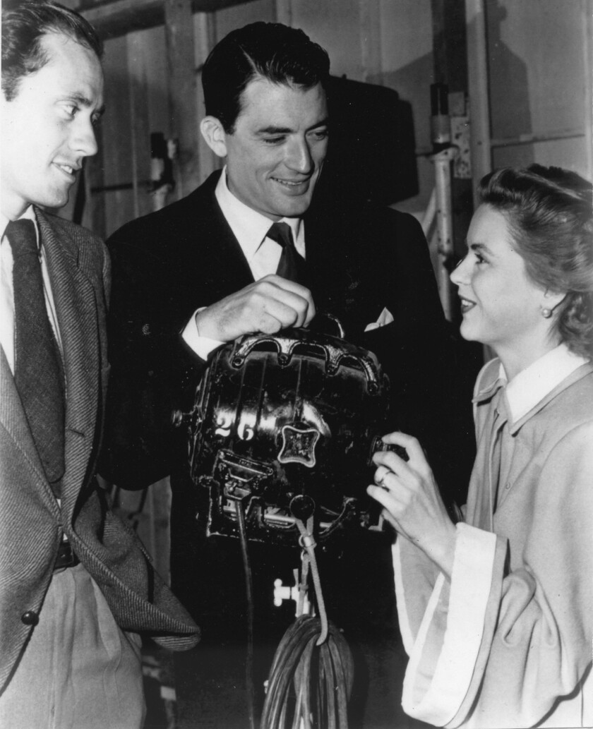 La Jolla Playhouse founders Mel Ferrer, Gregory Peck and Dorothy McGuire