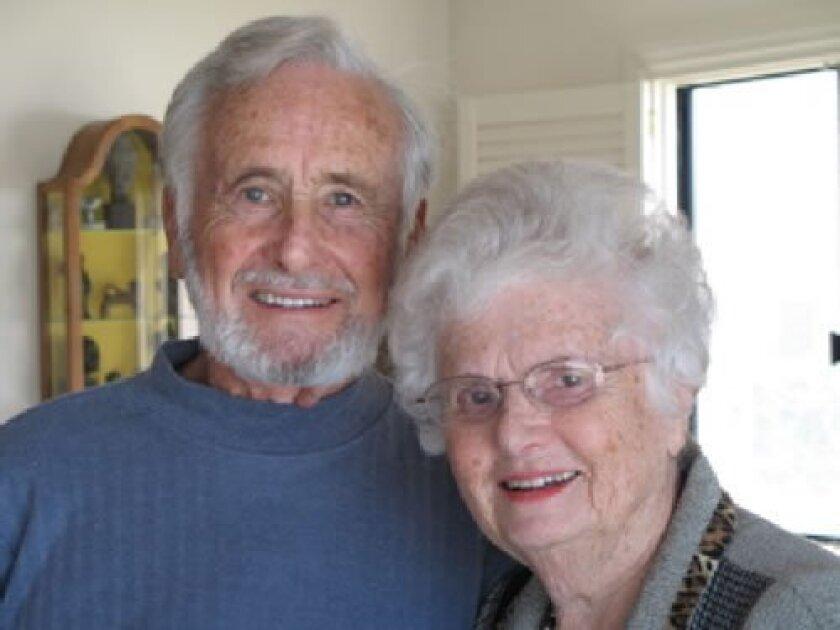 Natasha Josefowitz with her late husband, Herman Gadon. Courtesy