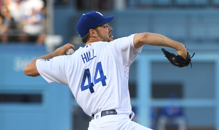 Dodgers pitcher Rich Hill says he plans to pitch against the San Diego Padres on Sept. 24.