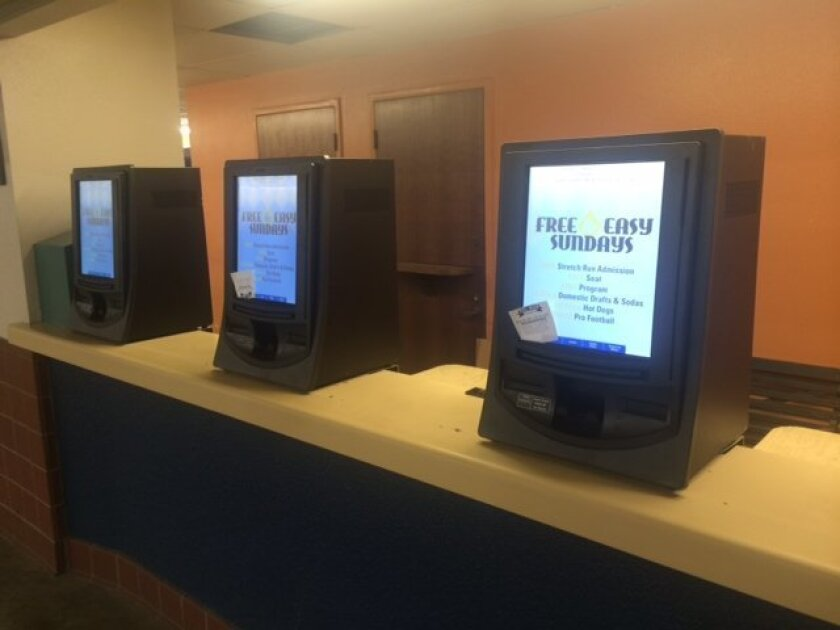 Del Mar's new pari-mutuel betting machines are ready for gamblers on opening day on Thursday.
