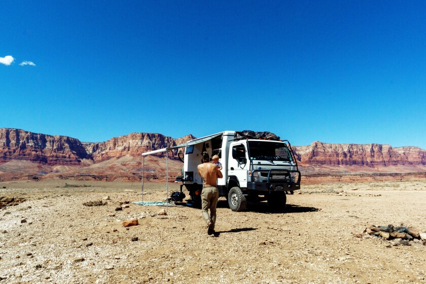 The Standish family has been living in their overland adventure vehicle since last holiday season.