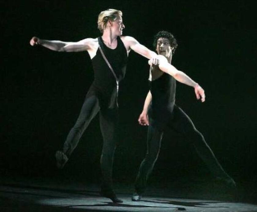 'RABBIT AND ROGUE': American Ballet Theatre's Ethan Stiefel, left, and Herman Cornejo perform Wednesday.