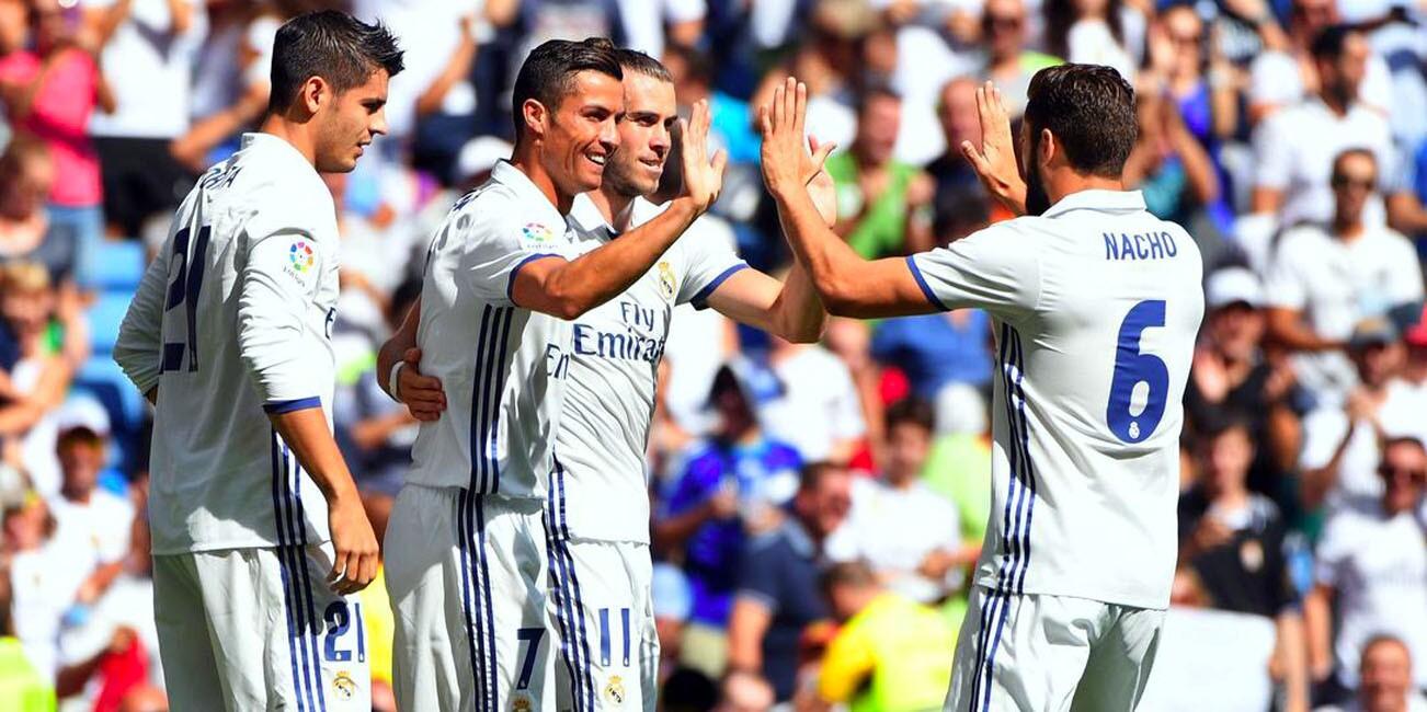Cristiano Ronaldo volvió a ver acción luego de la lesión que sufrió en la final de la Euro 2016 e impulsó el triunfo 5-2 del Real Madrid sobre Osasuna, que catapultó a los blancos al liderato de la liga española (9 puntos).
