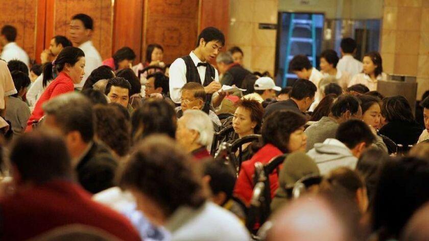 Customers inside Ocean Star restaurant