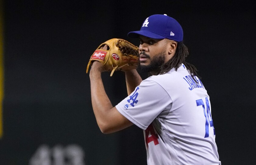 Los Angeles Dodgers relief pitcher Kenley Jansen (74) in the first inning.