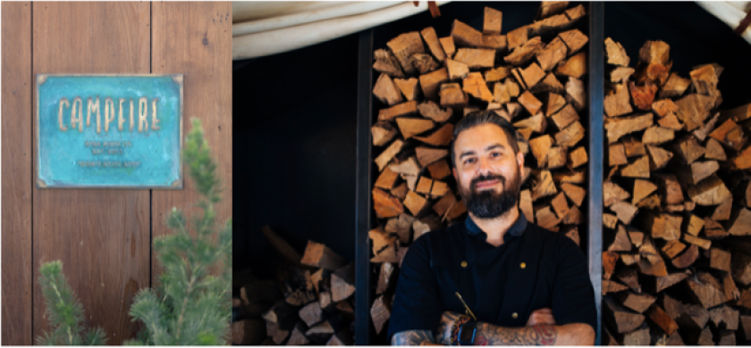 Andrew Santana has returned to Campfire restaurant in Carlsbad has co-executive chef.