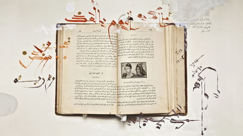 Scholar Haifa Al Habib brought an anthropology book purchased along Baghdad's Al Mutanabbi Street, a