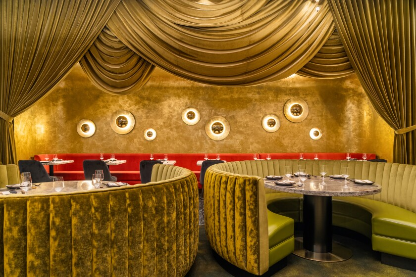 Old-school glam is a trend we can embrace, particularly when it's as plush as Animae's dining room.