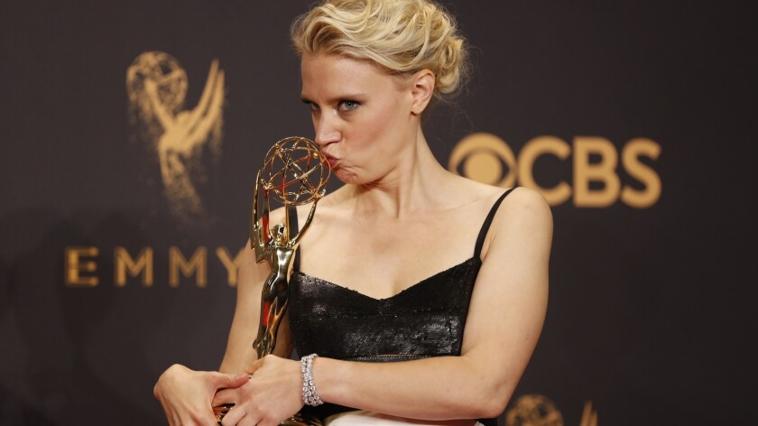 LOS ANGELES, CA., September 17, 2017: Kate McKinnon wins Emmy for supporting actress in a