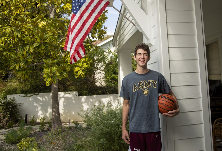 Nolan Naess, a Laguna Beach High School senior, has committed to the Army men's basketball program.