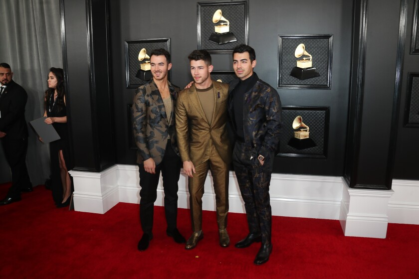 The Jonas Brothers on the Grammys red carpet