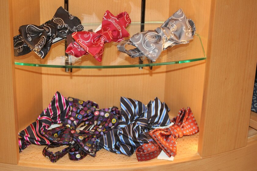 Robert Talbott's shop-in-shop at the Ascot Shop features a full line of the luxury brand's silk ties and bow ties.
