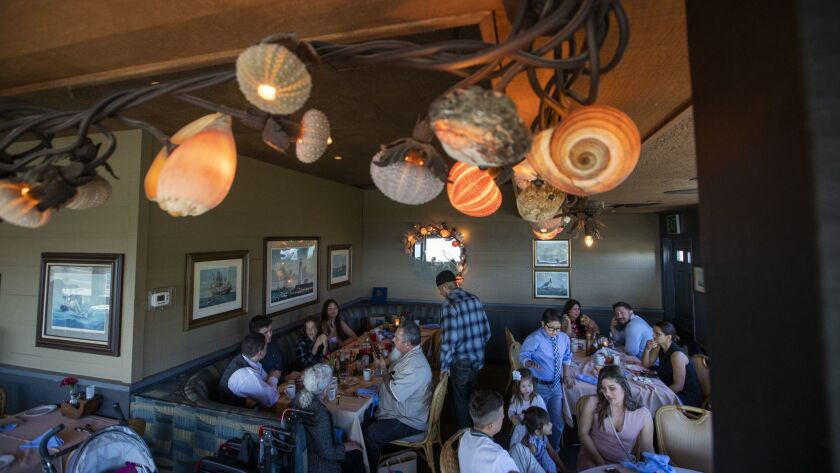 RANCHO PALOS VERDES, CALIF. -- SUNDAY, JUNE 30, 2019: Patrons dine at The Admiral Risty Restaurant i