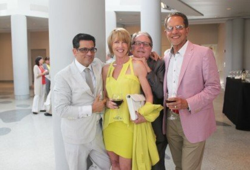 Architect Will Georgis with Ellen Dolgen, Richard Marshall and David Dolgen at a release party for Georgis' new coffee-table tome. The event was held at the Museum of Contemporary Art San Diego in La Jolla on July 16. Pat Sherman photos
