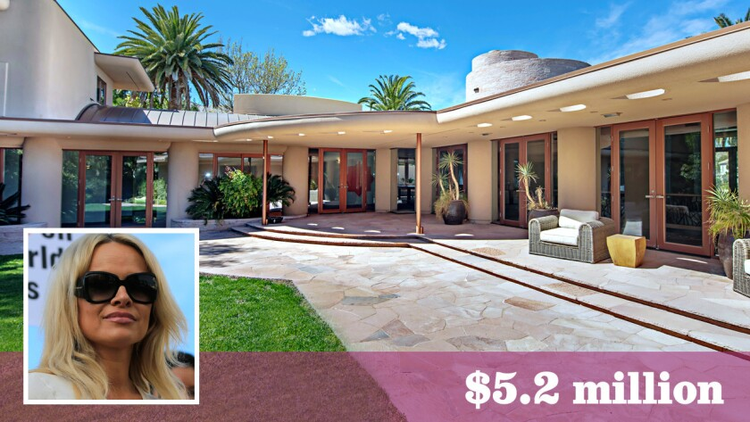 """The marital home of """"Baywatch"""" star Pamela Anderson and her former husband, Rick Salomon, is for sale near Las Vegas for $5.2 million."""