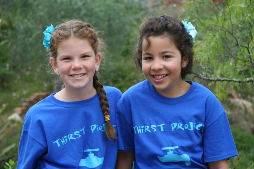 Sarah Maloney and Alexa Geyser have raised $22,000 for the Thirst Project in Africa. Photo by Diane Maloney