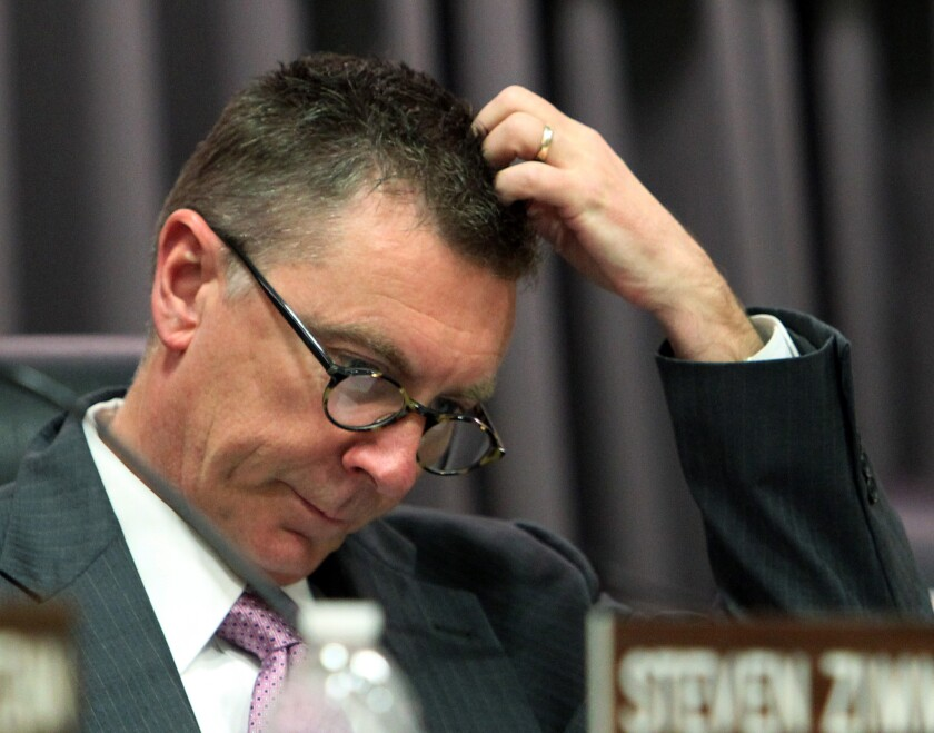 LAUSD Supt. John Deasy has a strained relationship with the school board.