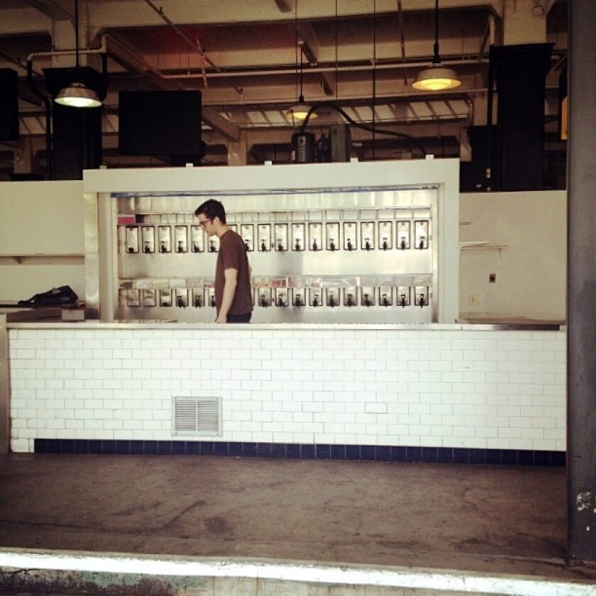 G&B Coffee, pictured here before it opened several weeks ago in Grand Central Market, serves specialty coffee and tea.