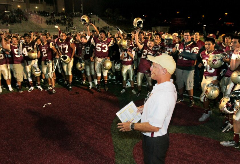 Mission Hills coach Chris Hauser hopes his defense can keep Bakersfield in check Friday night,