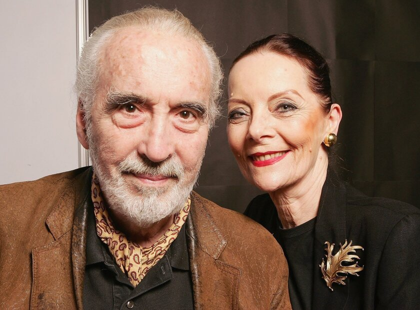 Actor Christopher Lee with his wife, Brigitta, in 2006.