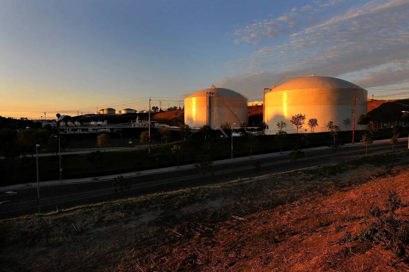 The Rancho LPG butane storage tanks are near shopping areas, playing fields and several schools in San Pedro. The facility is one of the oldest and largest of its kind.
