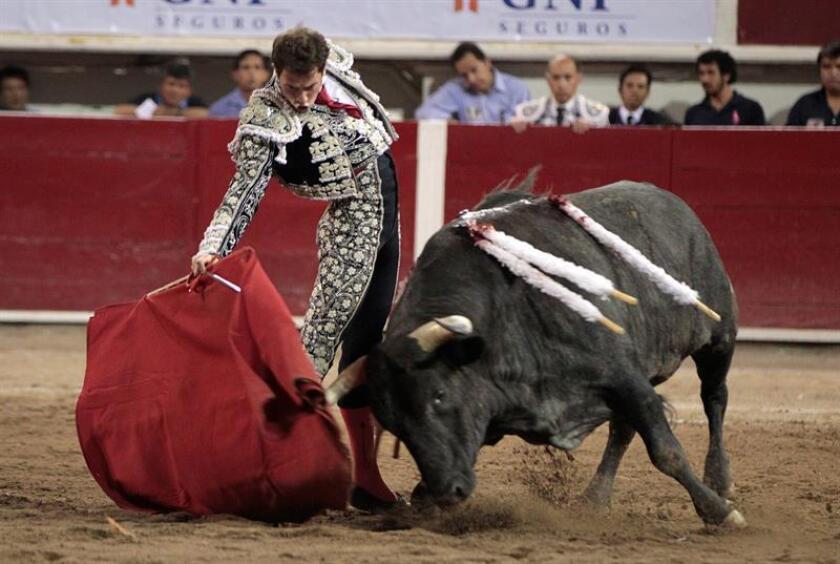 En la imagen un registro del torero mexicano Arturo Saldívar, quien cortó un oreja y se alzó como triunfador de la tercera y última corrida de la feria de Huamantla (Tlaxcala, México). EFE/Archivo
