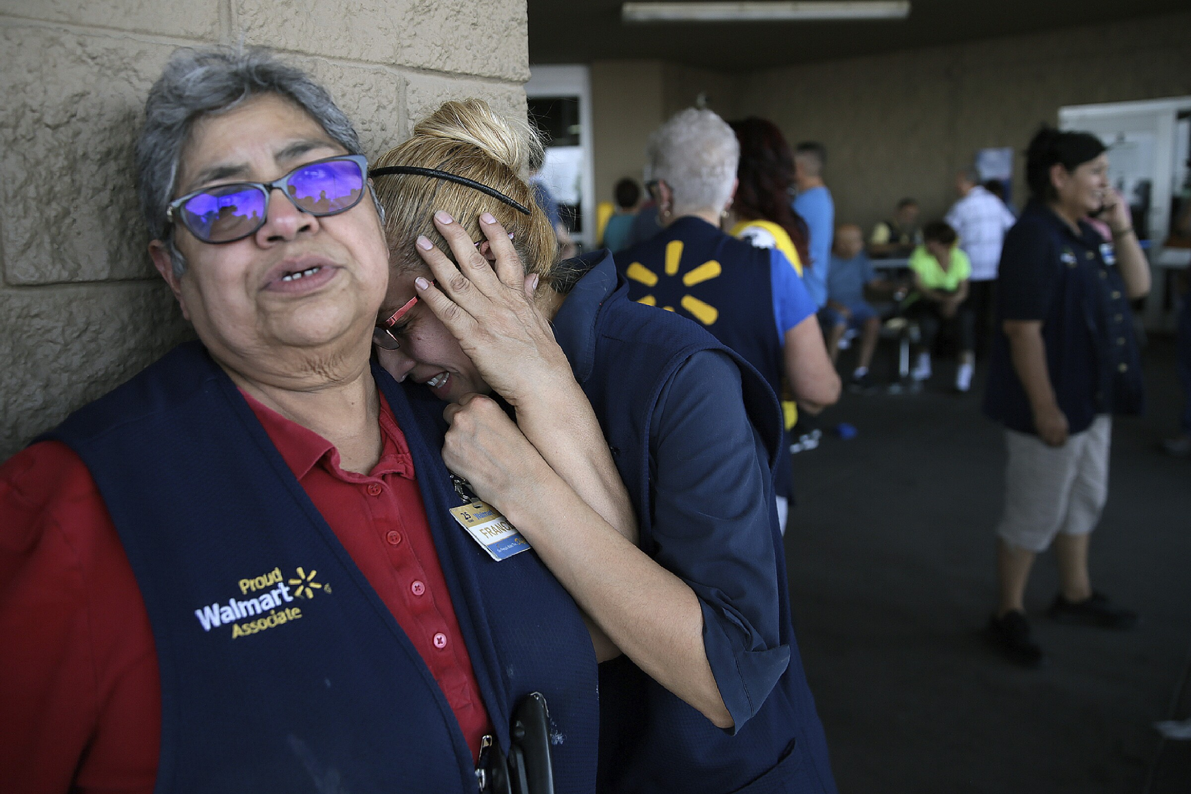 Walmart employees react after shooting in El Paso