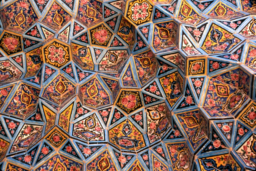 The Nasir-ol-Mulk Mosque in Shiraz, also known as the Pink Mosque
