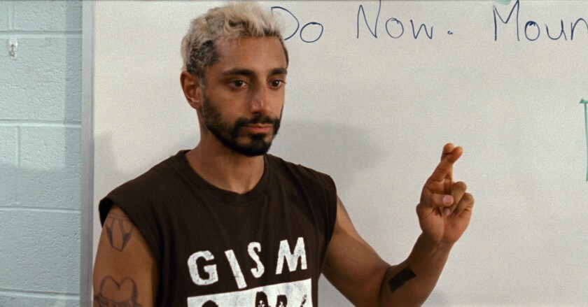 """This image released by Amazon Studios shows Riz Ahmed in a scene from """"Sound of Metal."""" (Amazon Studios via AP)"""