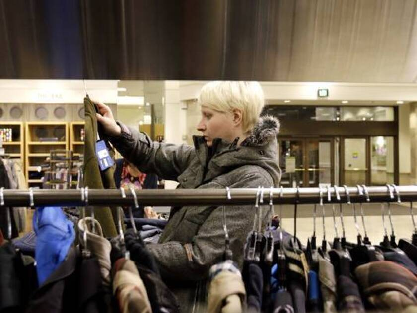 Retail sales saw mild growth in February amid bad weather and economic worries.