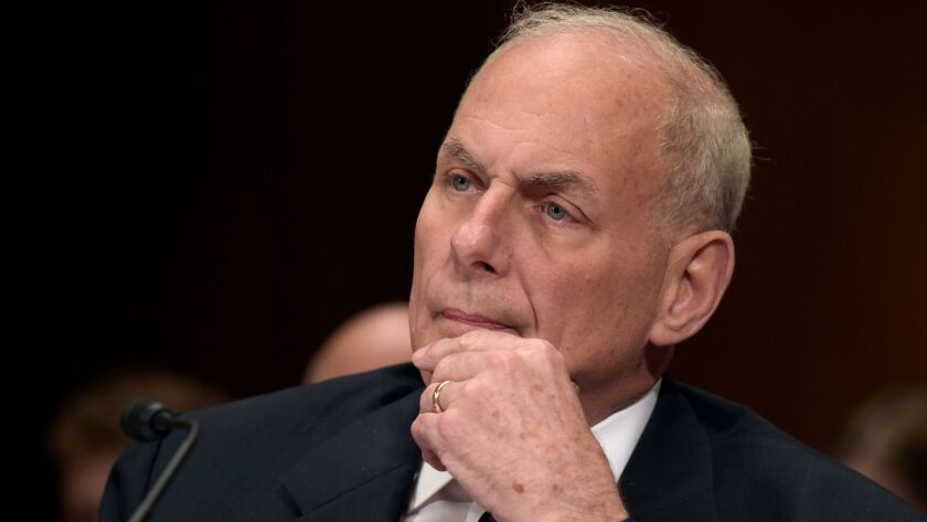 """Homeland Security Secretary John F. Kelly was asked whether he would expand the laptop ban to cover laptops on all flights into and out of the U.S. His answer: """"I might."""""""
