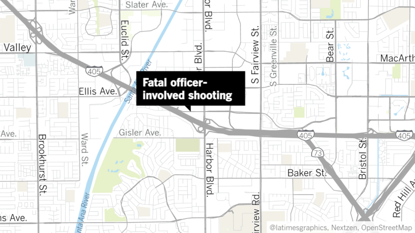 An officer-involved shooting occurred at around 10:30 a.m. Friday in the 1500 block of South Coast Drive.