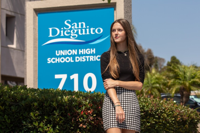 Haley Dinsmore at San Dieguito Union High School District office