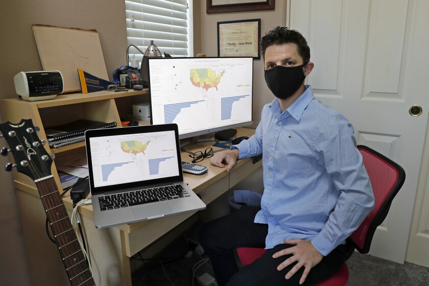 Irvine resident Matthew Littman spent four months creating a COVID-19 severity dashboard for counties across the U.S.