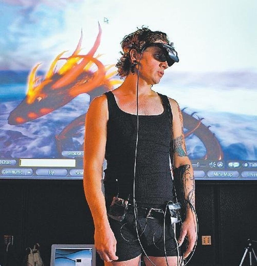 Micha Cardenas, a 31-year-old transgender art student at UCSD, spent 365 consecutive hours in the virtual world, Second Life. <em>K.C. Alfred/Union-Tribune</em>
