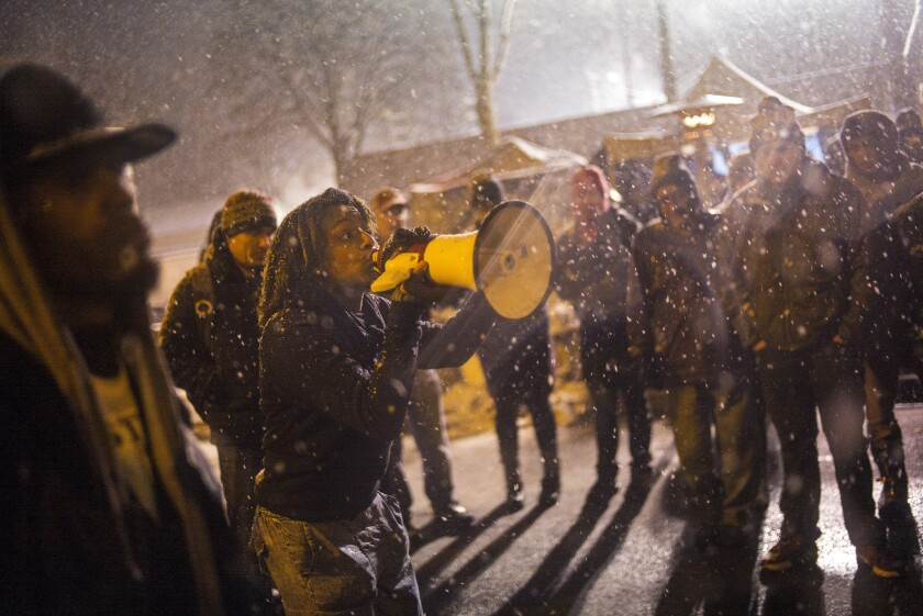 At the 4th Precinct in North Minneapolis, protesters prepared for a possible raid on their encampment.