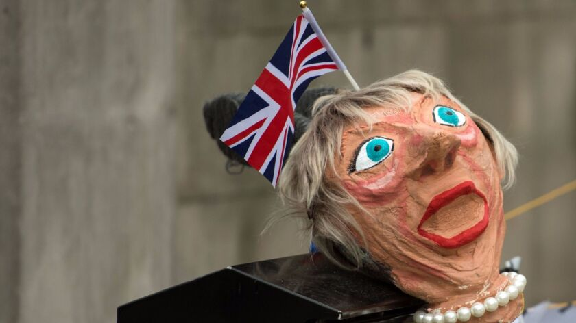 An effigy of British