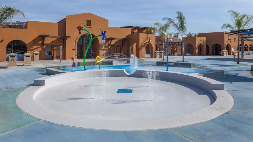 This interactive fountain is one of the features in Carlsbad's Alga Norte Park