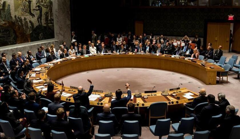 El Consejo de Seguridad de la ONU rechazó hoy una propuesta de Rusia para prorrogar la investigación internacional sobre el uso de armas químicas en Siria, pero introduciendo importantes cambios en su mandato. EFE/ARCHIVO