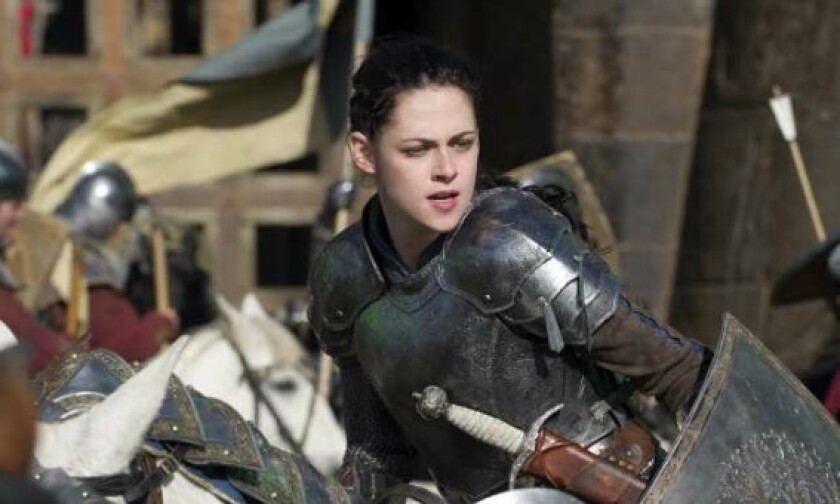 """Kristen Stewart's armor-clad heroine leads a ragtag army in """"Snow White and the Huntsman."""""""