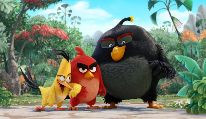 "Chuck (Josh Gad), Red (Jason Sudeikis), Bomb (Danny McBride) in ""The Angry Birds Movie."""