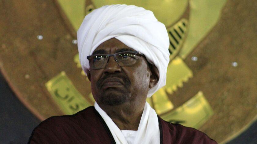 Sudanese President Omar Hassan Ahmed Bashir.