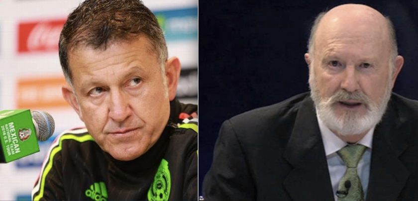Los entrenadores Juan Carlos Osorio (i) y Manuel Lapuente... dos momentos en el Tri.