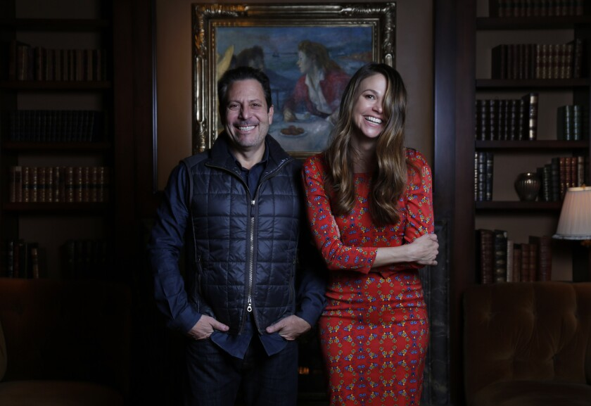 "Darren Star, the creator of the TV Land comedy ""Younger,"" and the show's star, Sutton Foster."