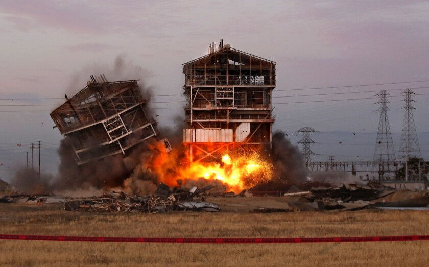 Onlooker seriously injured as power plant demolition goes awry