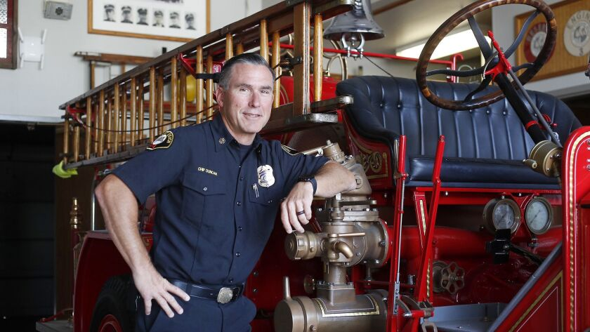 Newport Beach Fire Chief Chip Duncan is retiring this month after 32 years in the fire service, the