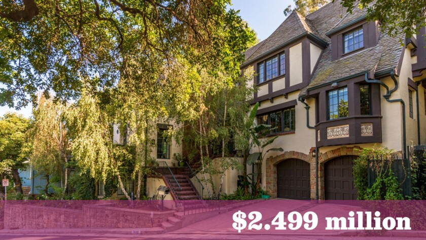 Television writer Larry Reitzer and studio violinist Matthew Funes are seeking about $2.5 million for their restored Tudor-style home in Los Feliz. They bought the house six years ago for $1.51 million.